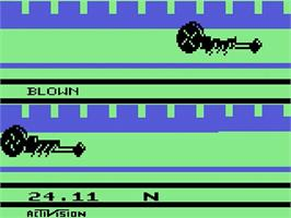In game image of Gravitar on the Atari 2600.