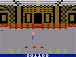 In game image of Gremlins on the Atari 2600.