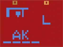 In game image of Hangman on the Atari 2600.