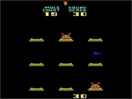 In game image of Holey Moley on the Atari 2600.