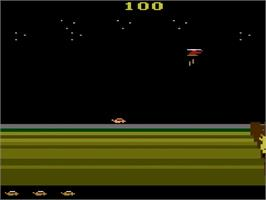 In game image of James Bond 007 on the Atari 2600.
