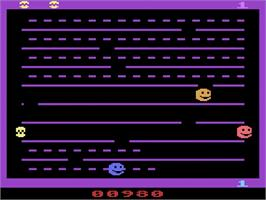In game image of JawBreaker on the Atari 2600.
