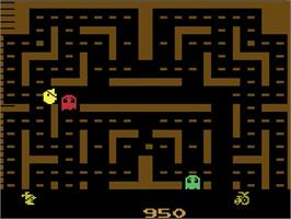 In game image of Jr. Pac-Man on the Atari 2600.