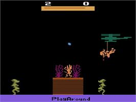 In game image of Jungle Fever/Knight on the Town on the Atari 2600.