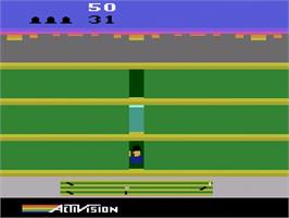 In game image of Keystone Kapers on the Atari 2600.