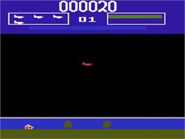 In game image of Killer Satellites on the Atari 2600.