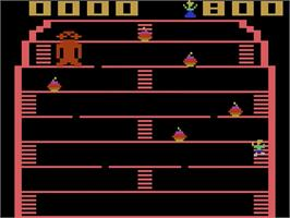 In game image of King Kong on the Atari 2600.