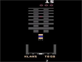 In game image of Klax on the Atari 2600.