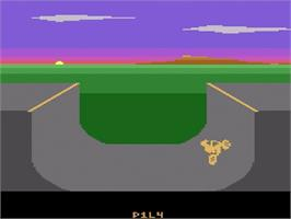 In game image of Kung-Fu Master on the Atari 2600.