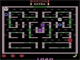 In game image of Lady Bug on the Atari 2600.