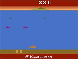 In game image of Marine Wars on the Atari 2600.