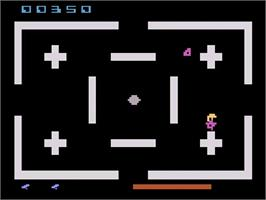 In game image of Master Builder on the Atari 2600.