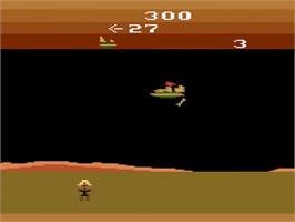 In game image of Masters of the Universe: The Power of He-Man on the Atari 2600.