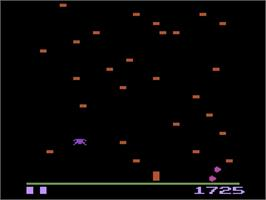 In game image of Millipede on the Atari 2600.
