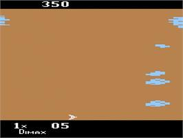 In game image of Motocross Racer on the Atari 2600.