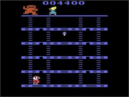 In game image of Mountain King on the Atari 2600.