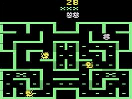 In game image of Mouse Trap on the Atari 2600.
