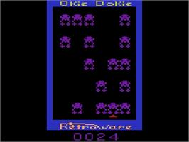 In game image of Okie Dokie on the Atari 2600.
