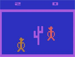In game image of Outlaw on the Atari 2600.