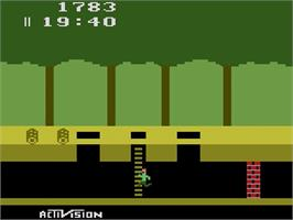 In game image of Pitfall! on the Atari 2600.