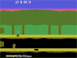 In game image of Pitfall II: Lost Caverns on the Atari 2600.