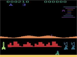 In game image of Pleiades on the Atari 2600.