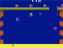 In game image of Pooyan on the Atari 2600.
