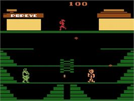 In game image of Popeye on the Atari 2600.