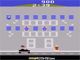 In game image of Private Eye on the Atari 2600.