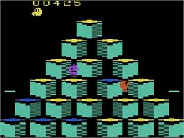 In game image of Q*bert on the Atari 2600.