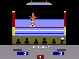 In game image of RealSports Boxing on the Atari 2600.