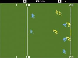 In game image of RealSports Football on the Atari 2600.