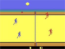 In game image of RealSports Volleyball on the Atari 2600.