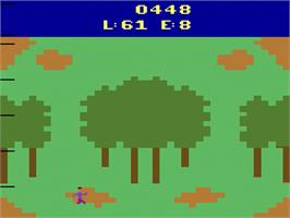 In game image of Revenge of the Apes on the Atari 2600.