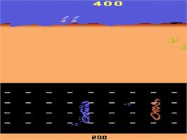 In game image of Road Runner on the Atari 2600.