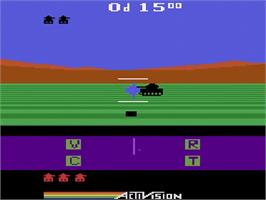 In game image of Robot Tank on the Atari 2600.