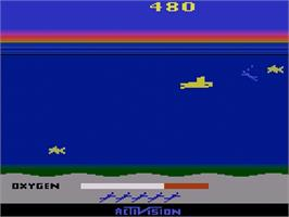 In game image of Seaquest on the Atari 2600.
