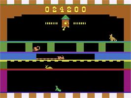 In game image of Shootin' Gallery on the Atari 2600.