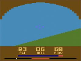 In game image of Slot Racers on the Atari 2600.