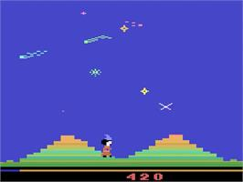 In game image of Sorcerer's Apprentice on the Atari 2600.