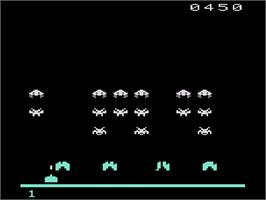In game image of Space Instigators on the Atari 2600.