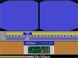 In game image of Space Shuttle: A Journey into Space on the Atari 2600.