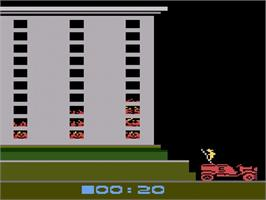 In game image of Spider Fighter on the Atari 2600.