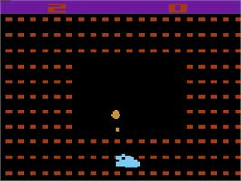In game image of Sssnake on the Atari 2600.