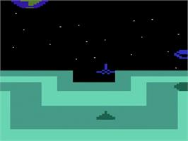 In game image of Star Strike on the Atari 2600.