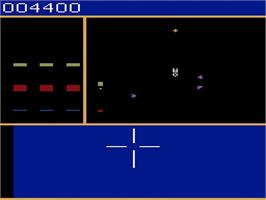 In game image of Star Trek: Strategic Operations Simulator on the Atari 2600.