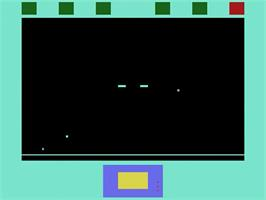 In game image of Star Wars on the Atari 2600.