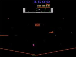 In game image of Stargate on the Atari 2600.