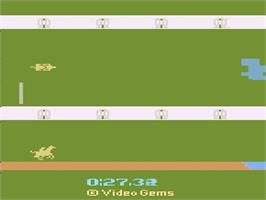 In game image of Steeplechase on the Atari 2600.