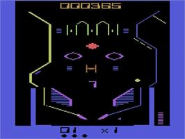 In game image of Super Breakout on the Atari 2600.